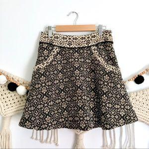 FREE PEOPLE The Carpet Bag Jacquard Mini Skirt
